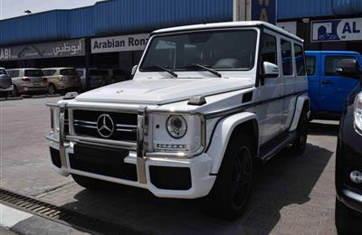 MERCEDES BENZ G63 AMG- 2015- WHITE- GCC