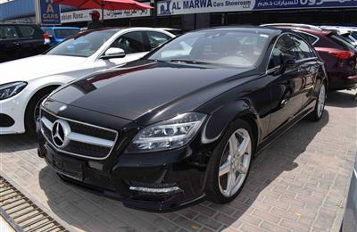 MERCEDES BENZ CLS 500- 2013- BLUE- GCC