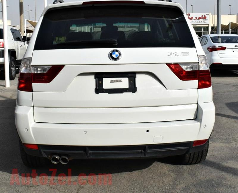 BMW X3 MODEL 2010 COLOR WHITE -V6 CAR SPECS IS AMERICAN