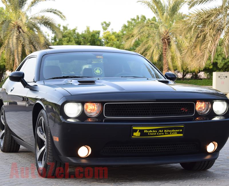 Warranty till 10/2019.V8 Dodge Challenger R/T Plus Warranty GCC Full Options