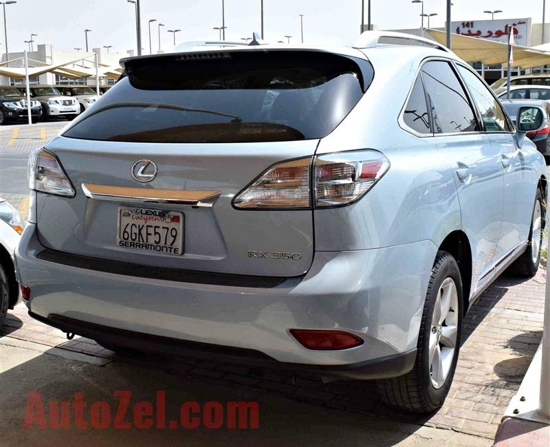 LEXUS RX350 model 2011 color blue car specs is american - v6