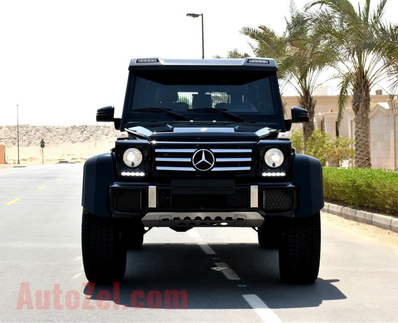 MERCEDES-BENZ G500 4X4- 2016- BLACK COLOR- 7 000 KM ONLY- 8 CYLINDER- WARRANTY- GCC