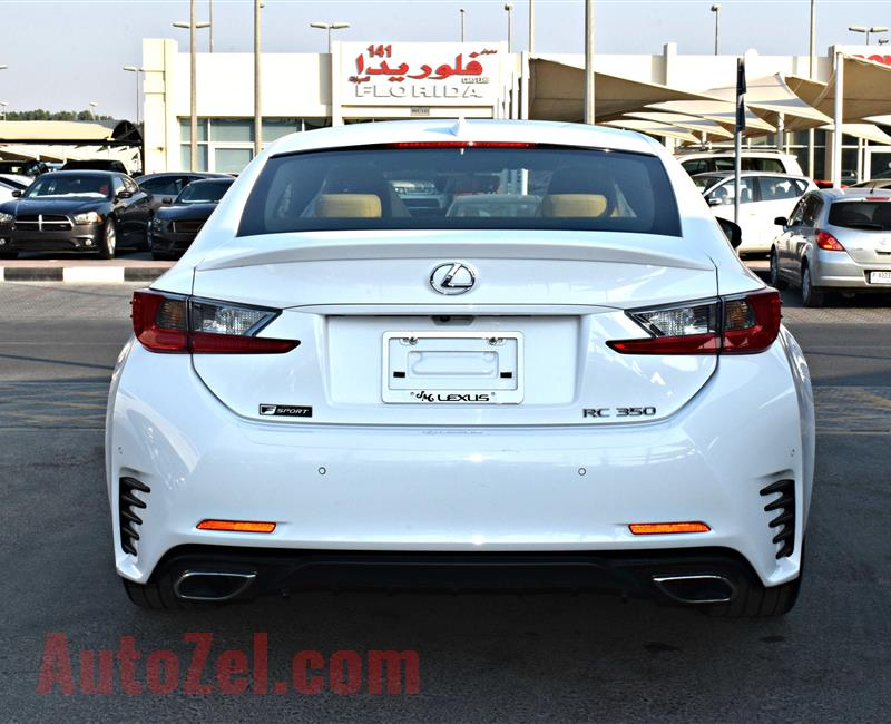 lexus rc350 model 2015 color white car specs is american - v6