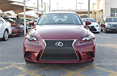 lexus  is250 model 2015 color red car specs is american...