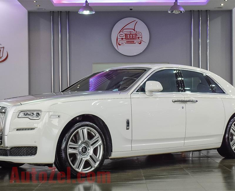 ROLLS ROYCE GHOST, V12- 2017- WHITE- 24 000 KM- GCC