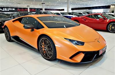 LAMBORGHINI HURACAN PERFORMANTE, V10- 2018- ORANGE- 3 000...