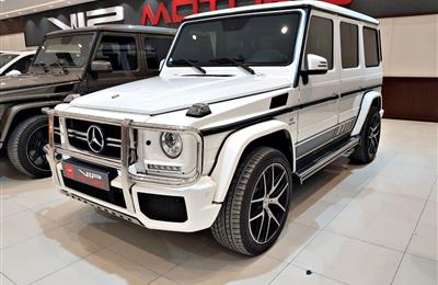 MERCEDES G63 AMG EDITION, V8- 2016- WHITE- 45 000 KM- GCC