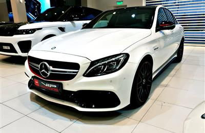 MERCEDES C63 S AMG, EDITION 1, V8- 2015- WHITE- 100 KM-...