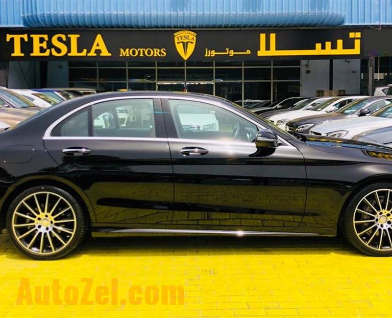 Mercedes C200 ////AMG 2017////GCC////ONE YEARS WARRANTY UNLIMITED KM////ONLY 2,106 DHS MONTHLY!////