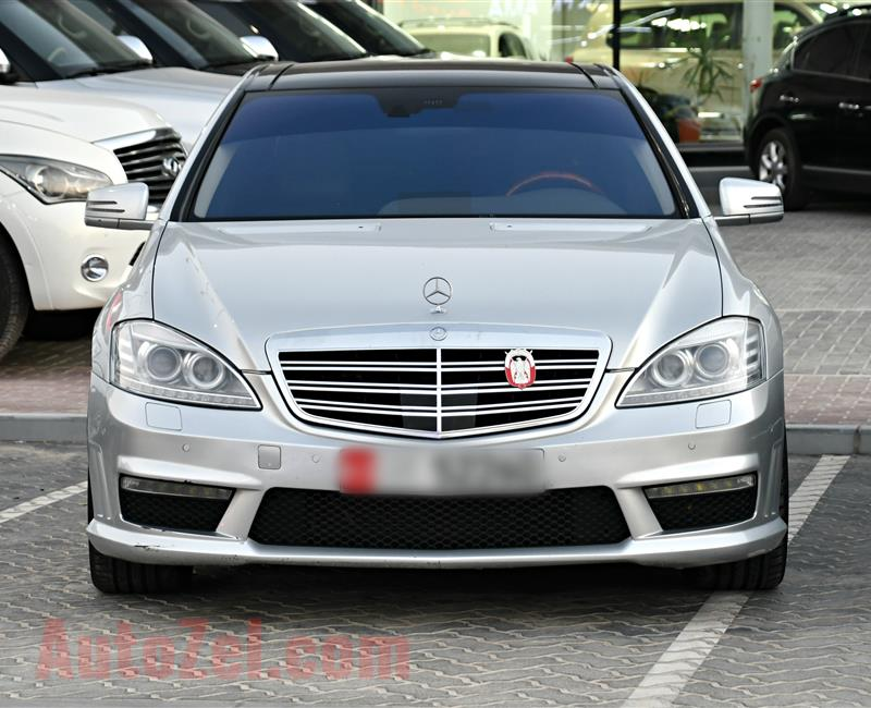 MERCEDES-BENZ S500, BODY KIT S63- 2008- SILVER- 286 000 KM- GCC