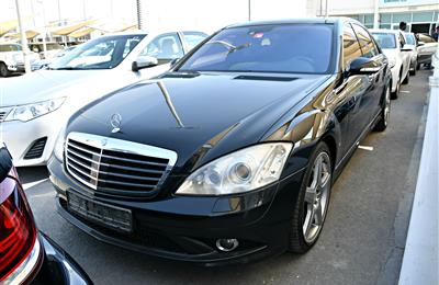 MERCEDES BENZ S500 AMG, V8- 2008- BLACK- 163 000 KM- GCC