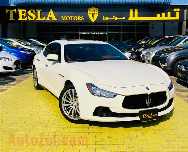 Ghibli///V6///2014///GCC///AL TAYER WARRANTY UNLIMITED KM!///F/S/H///WOW! ONLY 1,541 DHS MONTHLY///