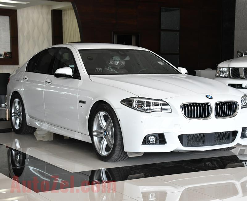 BRAND NEW BMW 528i M-KIT - 2016- WHITE- GCC SPECS