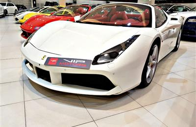 FERRARI 488 SPIDER, V8- 2018- WHITE- BRAND NEW, 0 KM- GCC