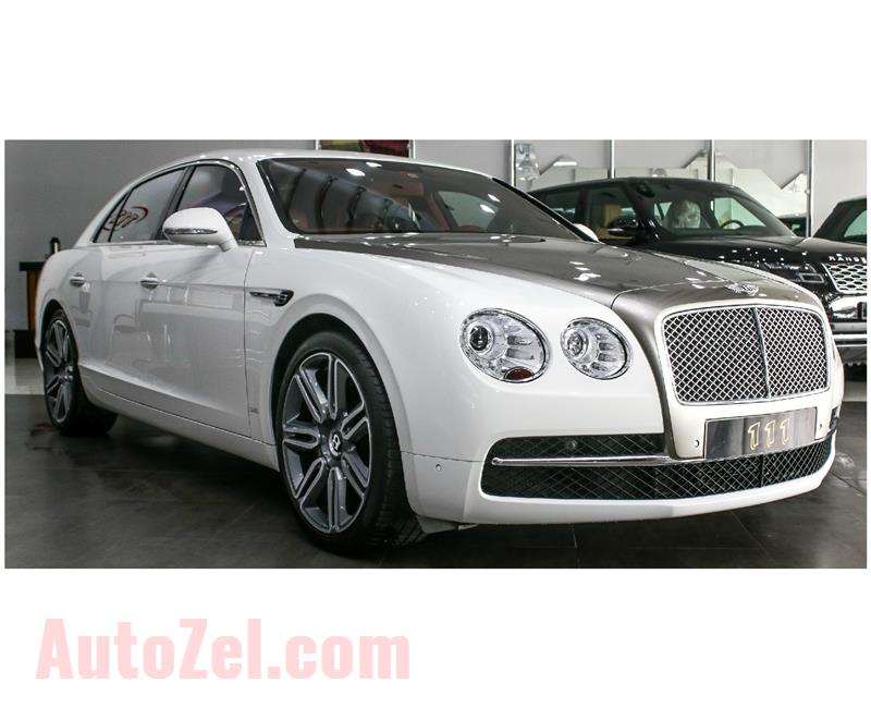 Bentley Flying Spur W12- 2016- 22 000 KM- WHITE- GCC SPECS