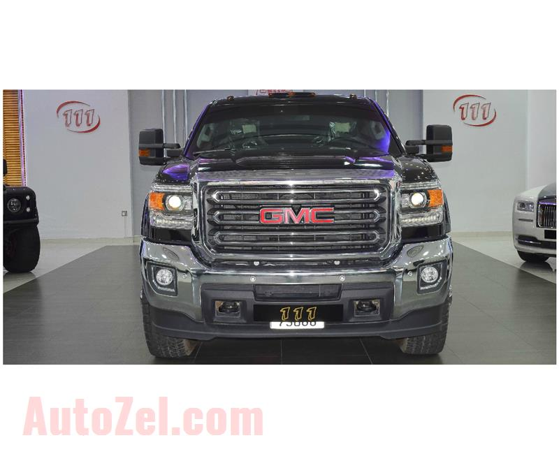 GMC 3500 HD- 2017- BLACK- 8 000 KM- GCC SPECS