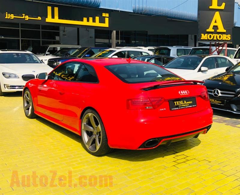 Audi RS5 ///GCC///2013///SUPER CLEAN///ONE YEAR WARRANTY UNLIMITED KM///WOW! ONLY 1,955 DHS MONTHLY///