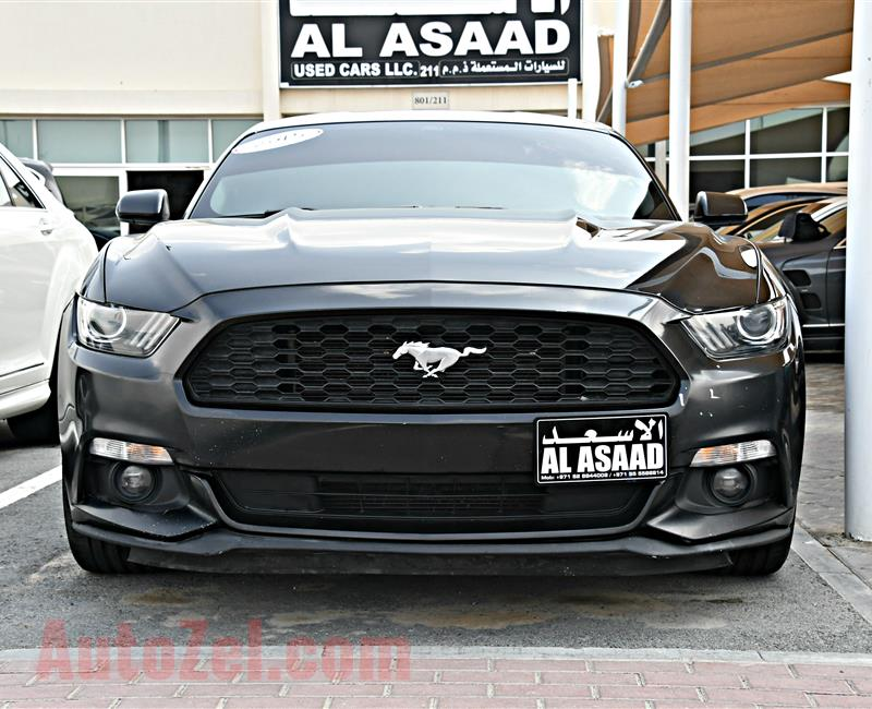 FORD MUSTANG  model 2015 - black - 70,000 km - v6 - CAR SPECS IS AMERICAN
