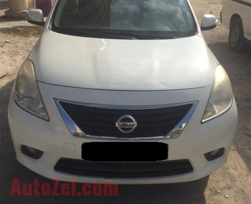 NISSAN SUNNY | 2013 | PEARL WHITE | GCC Spec | Excellent Condition