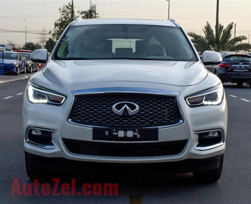 INFINITI QX60 - 2018 - GCC SPECS -WITH WARRANTY FROM AWROSTAMANI - 0 KM