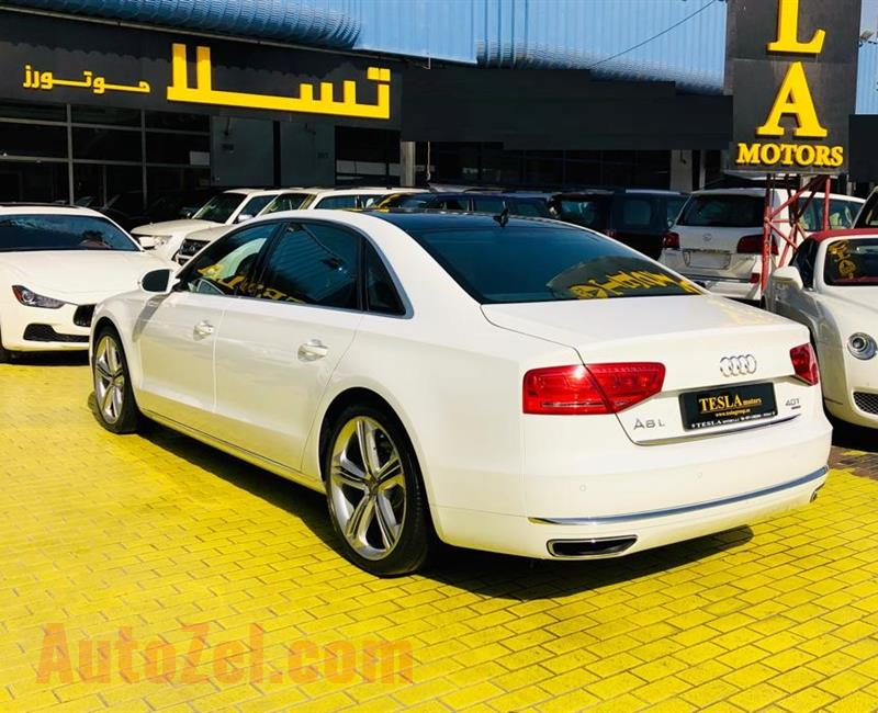 LOW MILEAGE///AUDI A8L///4.0T V8 QUATTRO///GCC///2014///WARRANTY///F/S/H///ONLY 2,119 DHS MONTHLY///