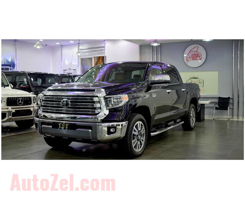 NEW TOYOTA TUNDRA CREWMAX 1794 EDITION 5.7L 4WD- 2018- BLACK- IMPORT SPECS