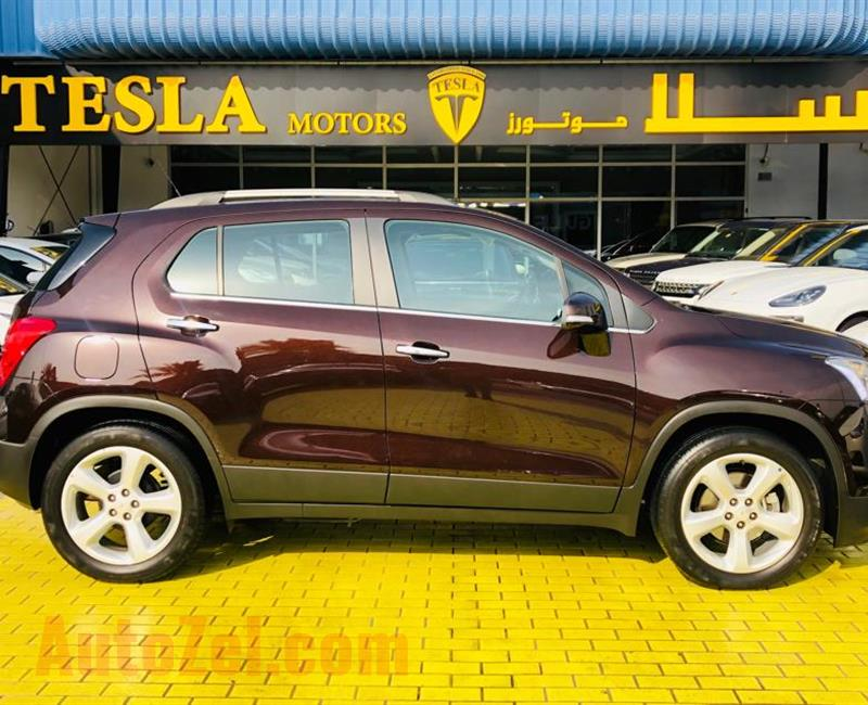 TRAX / LTZ 1.8L / FULL OPTION / GCC / 2016 / DEALER WARRANTY UP TO 100,000 KM / ONLY 1,069 DHS MONTHLY
