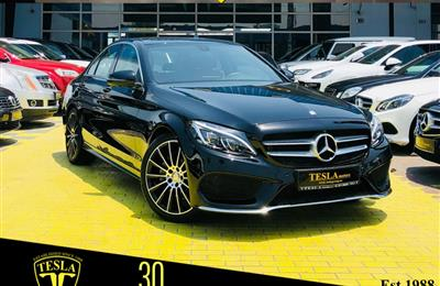 Mercedes C200 ////AMG 2017////GCC////ONE YEARS WARRANTY...