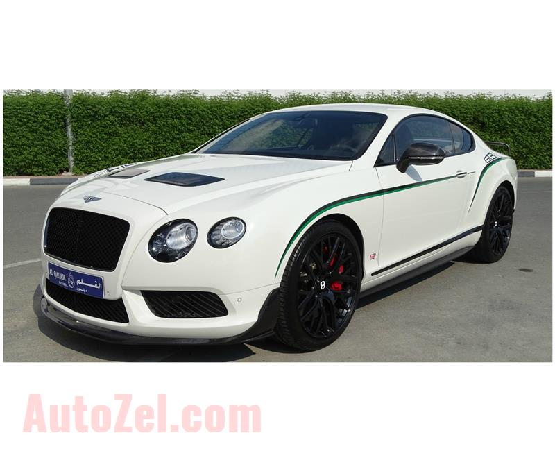 BENTLEY GT3 R- 2015- WHITE- 6 000 KM- GCC SPECS- 1 OF THE 300 CARS IN THE WORLD
