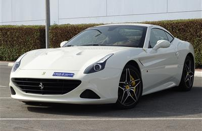FERRARI CALIFORNIA T 3.9L TWIN-TURBO- 2016- WHITE- 300 KM...