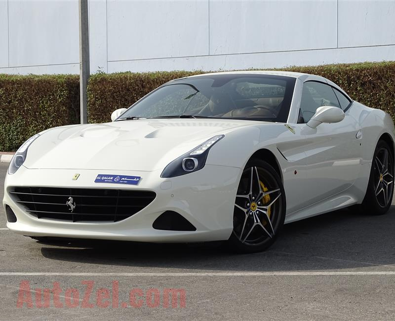 FERRARI CALIFORNIA T 3.9L TWIN-TURBO- 2016- WHITE- 300 KM ONLY- GCC SPECS