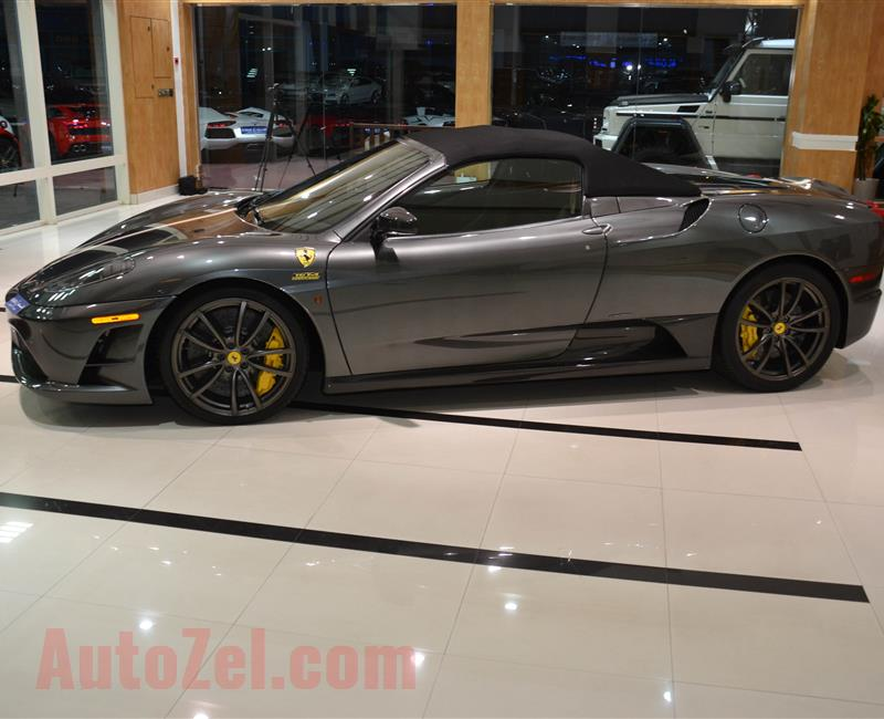 FERRARI SCUDERIA SPIDER 16M- 2009- GRAY- 3 000 KM- GCC SPECS- 1 OR 499 CARS IN THE WORLD