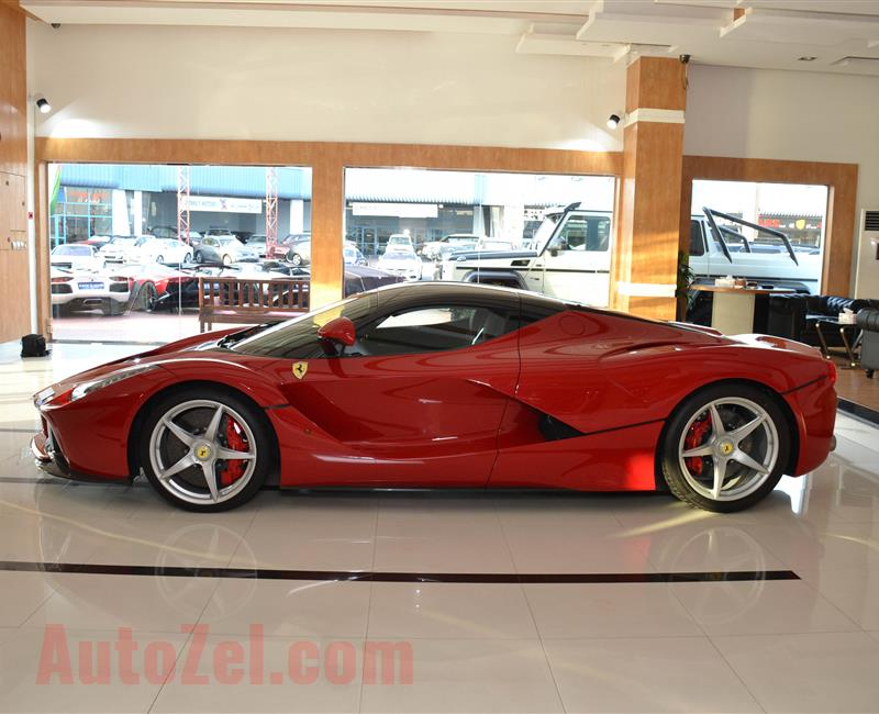 BRAND NEW FERRARI LA FERRARI- 2015- RED- 1 OF 500 CARS IN THE WORLD