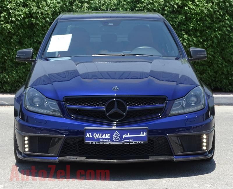 MERCEDES-BENZ C63 BRABUS B63- 2013- BLUE- 6 000 KM- GCC- 1 OF 10 CARS IN THE WORLD