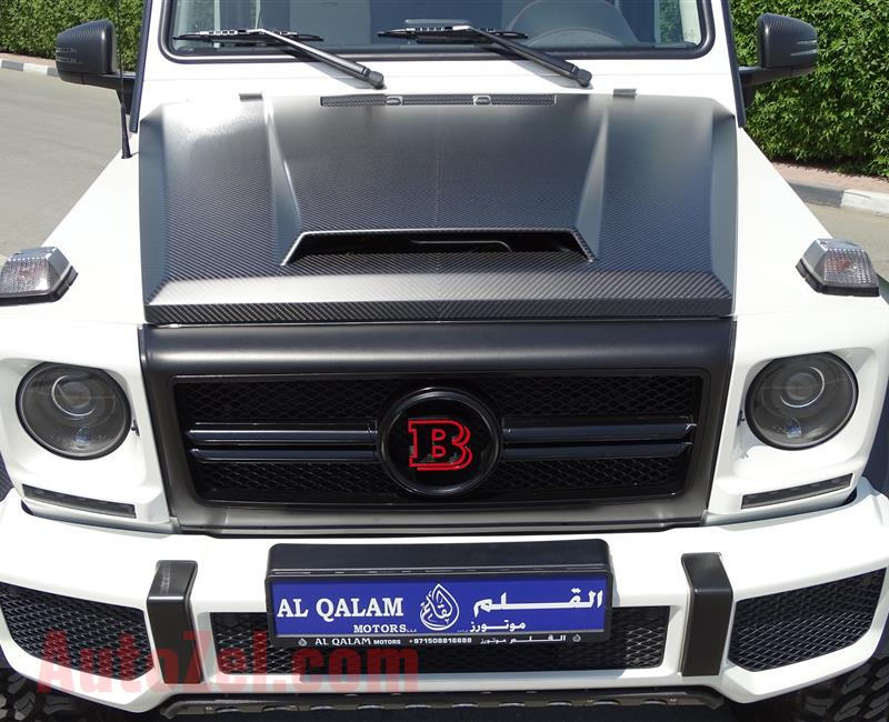 MERCEDES-BENZ G63 6X6 B700 BRABUS- 2014- WHITE- 3 000 KM ONLY- GCC SPECS
