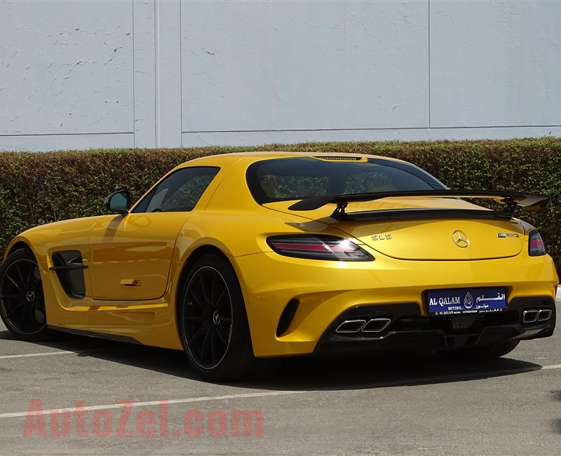 MERCEDES-BENZ SLS BLACK SERIES- 2014- YELLOW- GCC SPECS