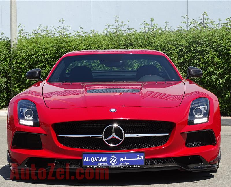 NEW MERCEDES-BENZ SLS BLACK SERIES- 2014- RED- GCC SPECS
