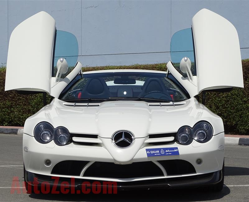 MERCEDES-BENZ SLR 722S- 2009- WHITE- 1 500 KM ONLY- GCC