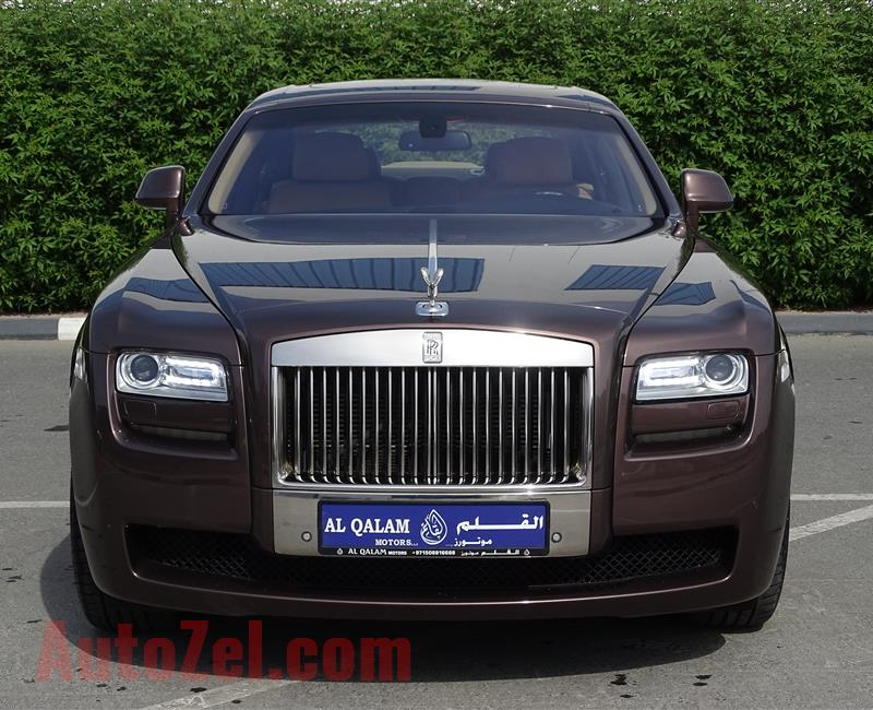 ROLLS ROYCE GHOST- 2012- BROWN- 68 000 KM- GCC SPECS
