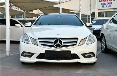 MERCEDES-BENZ E350 AMG- COUPE, V8- 2010- WHITE- GCC