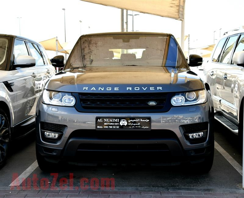 RANGE ROVER SUPERCHARGED- 2015- GRAY- 78 000 KM- GCC SPECS