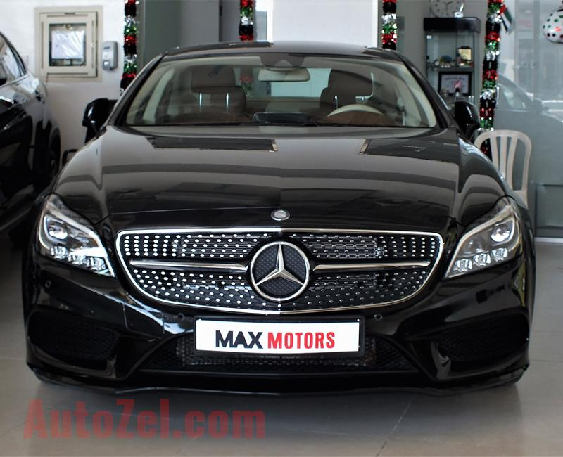 MERCEDES-BENZ CLS400- 2017- BLACK- 21 000 KM- GCC SPECS