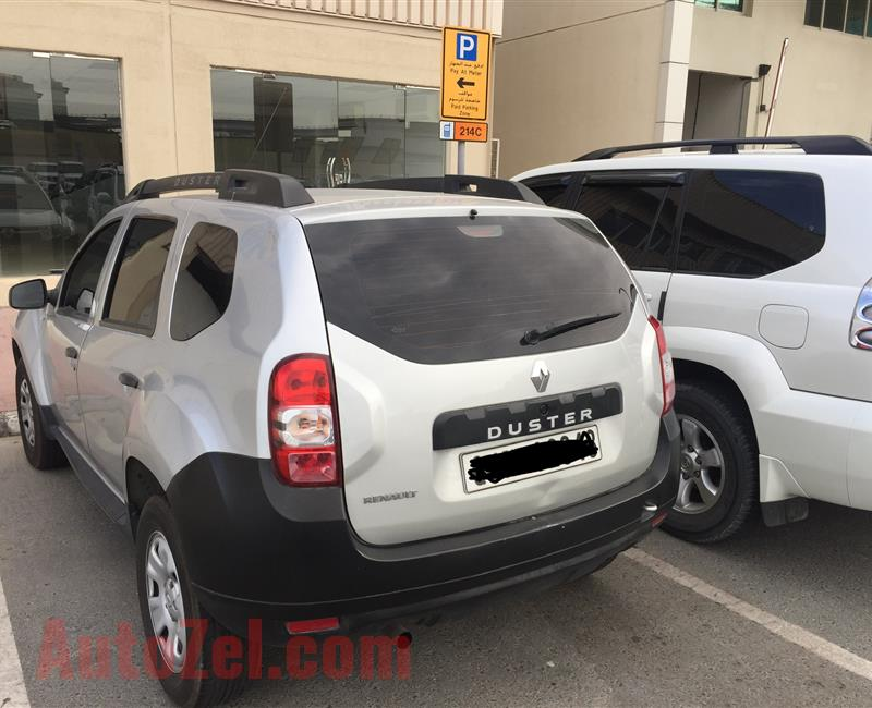 Renault Duster- Silver color- 2015 -Used Car for Sale