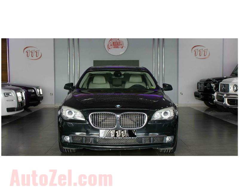 BMW 750 LI, V8- 2012- BLACK- 110 000 KM- GCC