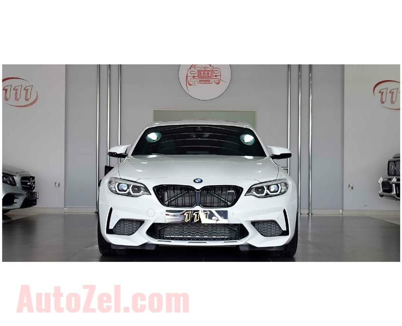 BMW M2 COMPETITION PACKAGE- 2019- WHITE- 4 000 KM- GCC SPECS