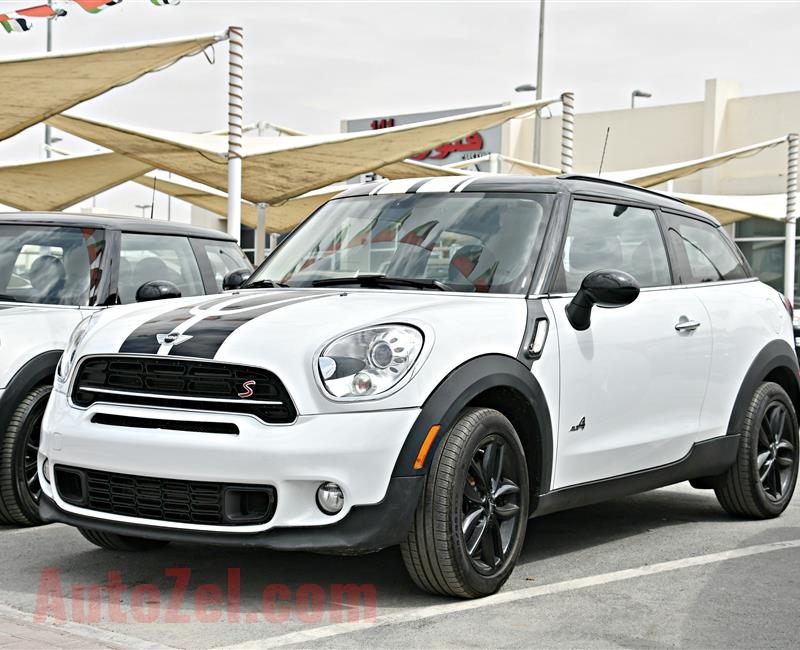 MINI COOPER S PACEMAN MODEL 2014 - WHITE - 19,000 KM - V4 - CAR SPECS IS AMERICAN