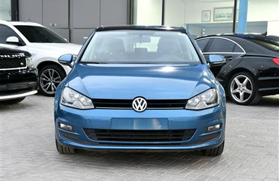 VOLKSWAGEN GOLF TSI- 2015- BLUE- 100 000 KM- GCC