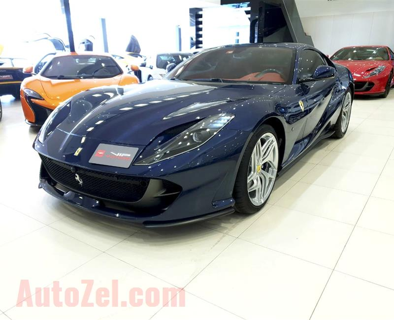 BRAND NEW FERRARI 812 SUPERFAST- 2018- BLUE- 0 KM- GCC