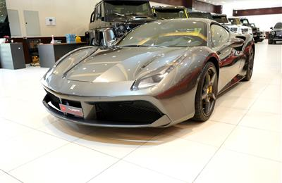 FERRARI 488 GTB- 2017- GREY- 7 000 KM, DEALER WARRANTY-...