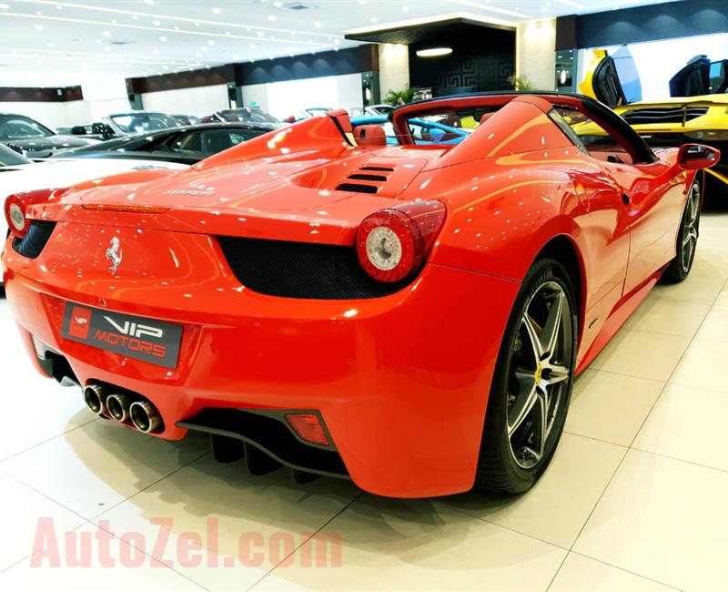 FERRARI 458 SPIDER- 2014- RED- 30 000 KM- GCC